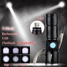 Rechargeable USB CREE LED Light Flashlight Lamp Mini Torch Pocket Waterproof AU