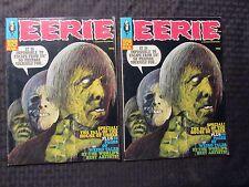 1969 EERIE Warren Horror Magazine #20 LOT of 2 FN+ FVF Reed Crandall