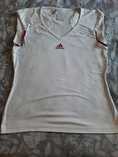 Adidas White Climacool Running Tennis Squash Fitness Gym Top Size Med - UK 12