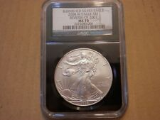 2008-W REVERSE OF 2007 NGC MS70 Burnished American Eagle Silver Dollar