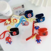 3D Marvel For Apple Airpods Pro 2 1 Spider-Man Ring Silicone Case Ring Keychain