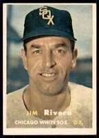 1957 Topps Set Break2 Ex+ Jim Rivera Chicago White Sox #107
