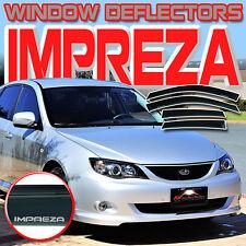 08 09 10 11 12 13 14 Impreza WRX Window Vent Shades Visor Rain Deflectors Guard