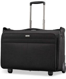 "Hartmann 15"" Century Carry-On Wheeled Garment Bag Color Basalt Black New"
