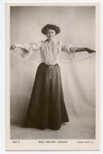 c 1905 Edwardian actress ADRIENNE AUGARDE w/ Jump Rope British photo postcard