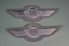 Post WW2 German FJ Fallschirmjager Luftwaffe Air Force Silver Jump Wings. 2 F44