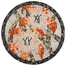 2'X2' Marble Corner Center Nalachite Coffee Round Table Top Mosaic Inlay Work