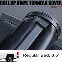 """Lock & Roll Up Soft Tonneau Cover Blk For 07-14 Silverado/Sierra 6.5 Ft 78"""" Bed"""