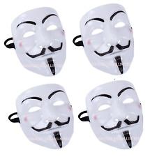 4X Vendetta Máscara Halloween de V cara Bonfire Night Guy Fawkes anónimo vestido de fantasía