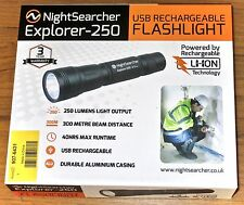 Nightsearcher EXPLORER-250 Rechargeable LED Robust Flashlight Torch - 250 Lumens