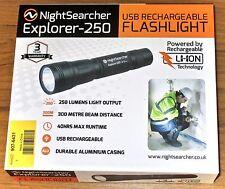 Nightsearcher Explorer - 250 DEL rechargeable robuste lampe de poche torche - 250 lm