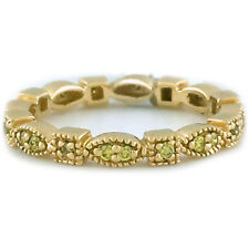 Handmade in USA 14k Yellow Gold .25ctw Yellow Diamond Stackable Ring Size 6