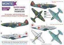 Montex Super Mask 1:32 Mig-3 for Trumpeter Kit Spraying Stencil #K32355