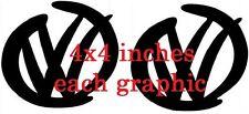 black x2 fun car vinyl stickers golf polo bora beetle decals side rear window