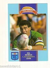 1993 FIELDERS RUGBY LEAGUE CARD - MAL MENINGA, CANBERRA RAIDERS
