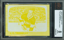 1966-67 TOPPS TEST # 5 J.C TREMBLAY PROOF BGS 8 SOLO FINEST REGISTRY UNIQUE .