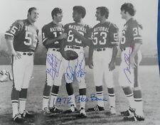1971 Detroit Lions Greg Landry Charlie Sanders Steve Owens Autographed 16x20 COA