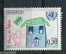 MONACO 1963, timbre 604, CHARTE DES ENFANTS, EMBLEME NATIONS UNIES ONU, neuf**
