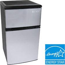 3.2  Cu. Ft. Compact Refrigerator w/ Freezer, EdgeStar Double Door Office Fridge