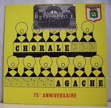 """33 tours CHORALE AGACHE Disque Vinyl LP 12"""" 75eme ANNIVERSAIRE - PERENCHIES 0705"""