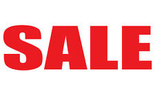 Shop window SALE sticker decals x2 Red Sale Vinyl sticker