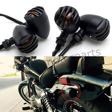 4X Black Motorcycle Turn Signal Lights Indicator For Harley Sportster Iron 883