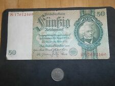 New Listing Germany Circulated 1933 50 Reichsmark Banknote Paper Money+ Coin