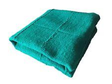 "African Plain Green Mud Cloth Textile Mali 45"" by 58"""