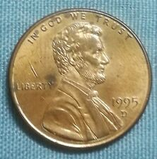 (RM) Lot #4 - 1995 USA United States 1 One cent Copper coin Abraham Lincoln