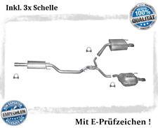 Auspuffanlage für Opel Vectra C / C GTS 2.2 Direct, 3.2 V6 Auspuff Chrom Schelle
