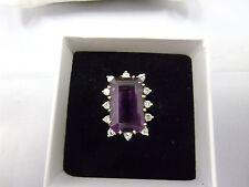 wunderschöner Ring mit Amethyst & 0,36ct. Diamanten Gold 750 punziert