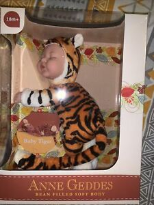 Anne Geddes Bean Filled Life Like Baby (Baby TIGER) 🐯 Doll Toy NEW SEALED