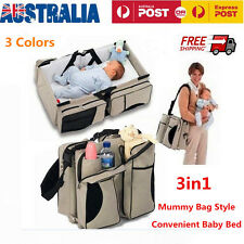 3in1 Foldable Baby Travel Bed Nappy Shoulder Bag Infant Crib Diaper Changing Mat
