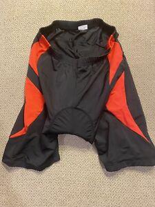 Mens Black And Red  Racing Padded Cycling Bike Shorts XL