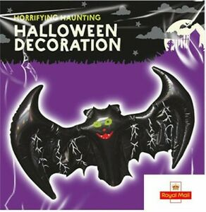 Blow Up BAT Inflatable Halloween Party Decoration Kids House Black Scary Theming