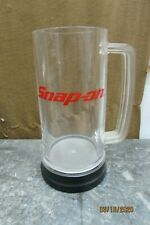 Snap-on Tall Pilsner Glass Red Plastic with Aluminum Base and Rim F292