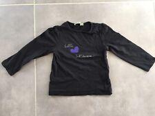T-shirt manches longues noir taille 4 ans TAPE A L'ŒIL proche neuf