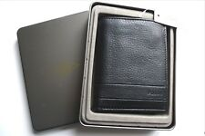 Fossil Black Tall Leather Combi Wallet Cards Notes Coins With *id Window* Tags
