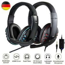 3.5mm Gaming Kopfhörer Headset mit Mikrofon für PC Laptop PS4 Xbox One 360