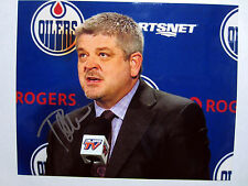TODD MCLELLAN Edmonton Oilers Coach SIGNED Autographed 8X10 Photo w/ COA