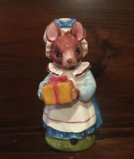 Vintage Schmid Mrs. Mouse With Present Figurine - 1970s
