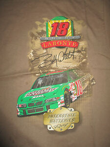 2001 BOBBY LABONTE No. 18 Interstate Batteries WINSTON CUP (LG) T-Shirt BROWN