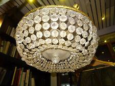 Kristall Plafoniere Deckenleuchter Kronleuchter mit Kristallbehang antik Lampe