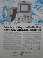 1/1968 PUB HEWLETT PACKARD MIL VERSION 180 SCOPE OSCILLOSCOPE AN/USM-281 AD