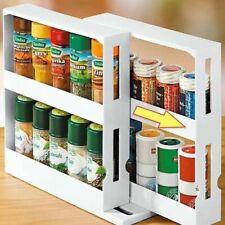 Kitchen Storage Rack Seasoning Spice Jar Rack Multi-Function Rotating Organizer