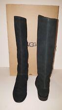 UGG Australia Gracen Black Suede Leather Knee High Boot 1017344 SZ 8M NWBox $250