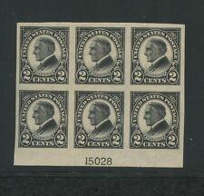 1923 US Postage Stamp #611 Mint Hinged VF Original Gum Plate No 15028 Block of 6