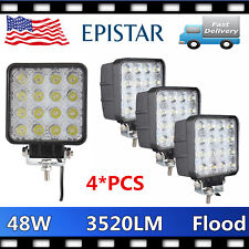 4X 48W Square LED Work Light DRL Offroad Fog SUV Flood Lamp 12V24V SAVE Spot 27W