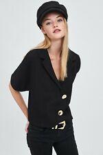 cherrie424: Zara TRF Button Blouse w/ Puff Sleeves