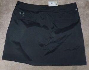 NEW PUMA Women Ladies Skirt Black Dry Cell Solid Tech Size SZ 14 NWT